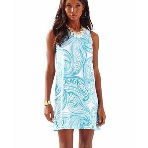LP Pastel Tiger Sleeveless Sea Resort Shift Dress
